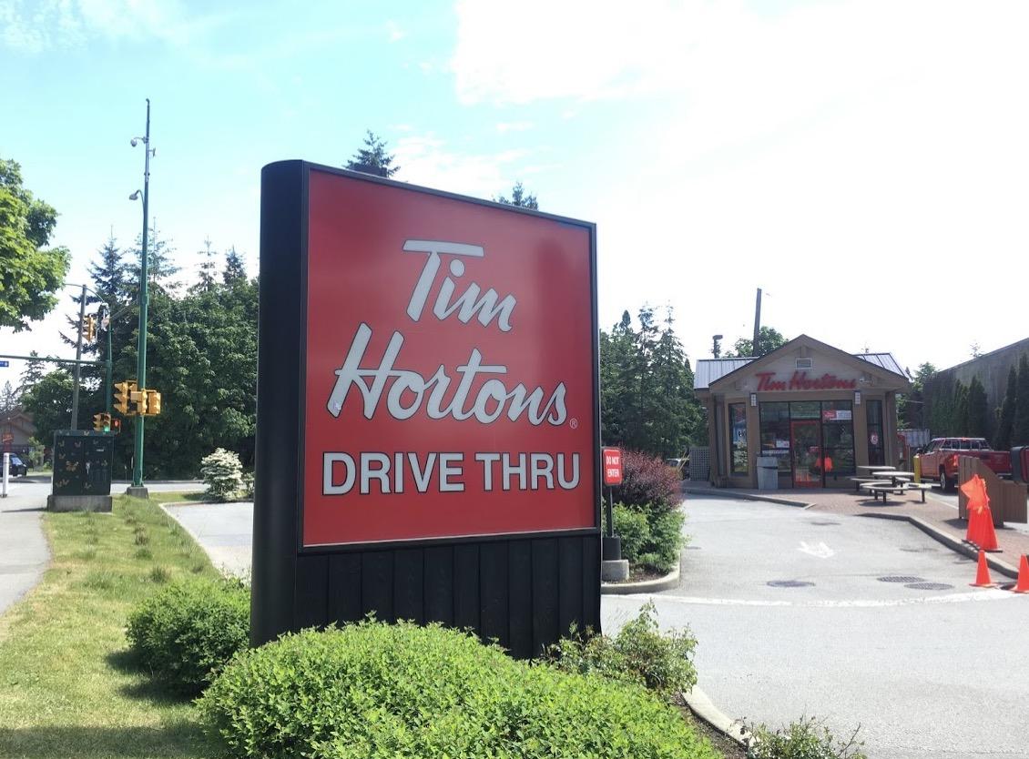 ファクトリーアウトレットへのルート「Tim hortons」