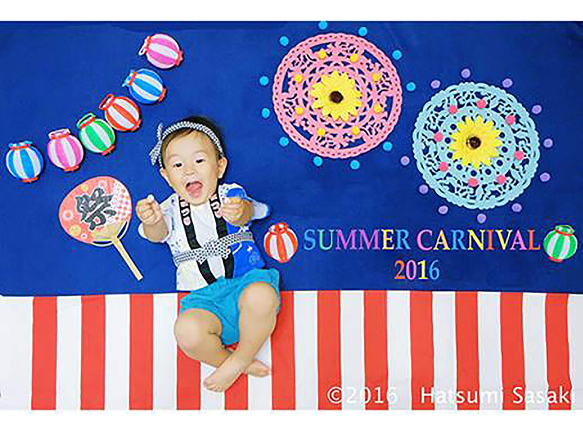 この写真はアトレ新浦安店「サマーカーニバル」のおひるねアートのイメージです