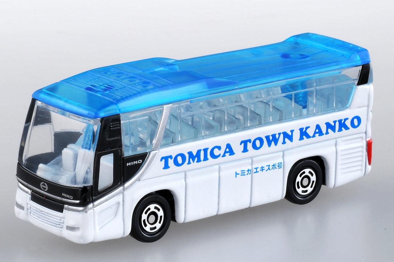 この写真はトミカ博の来場者プレゼントのトミカタウン観光バスです