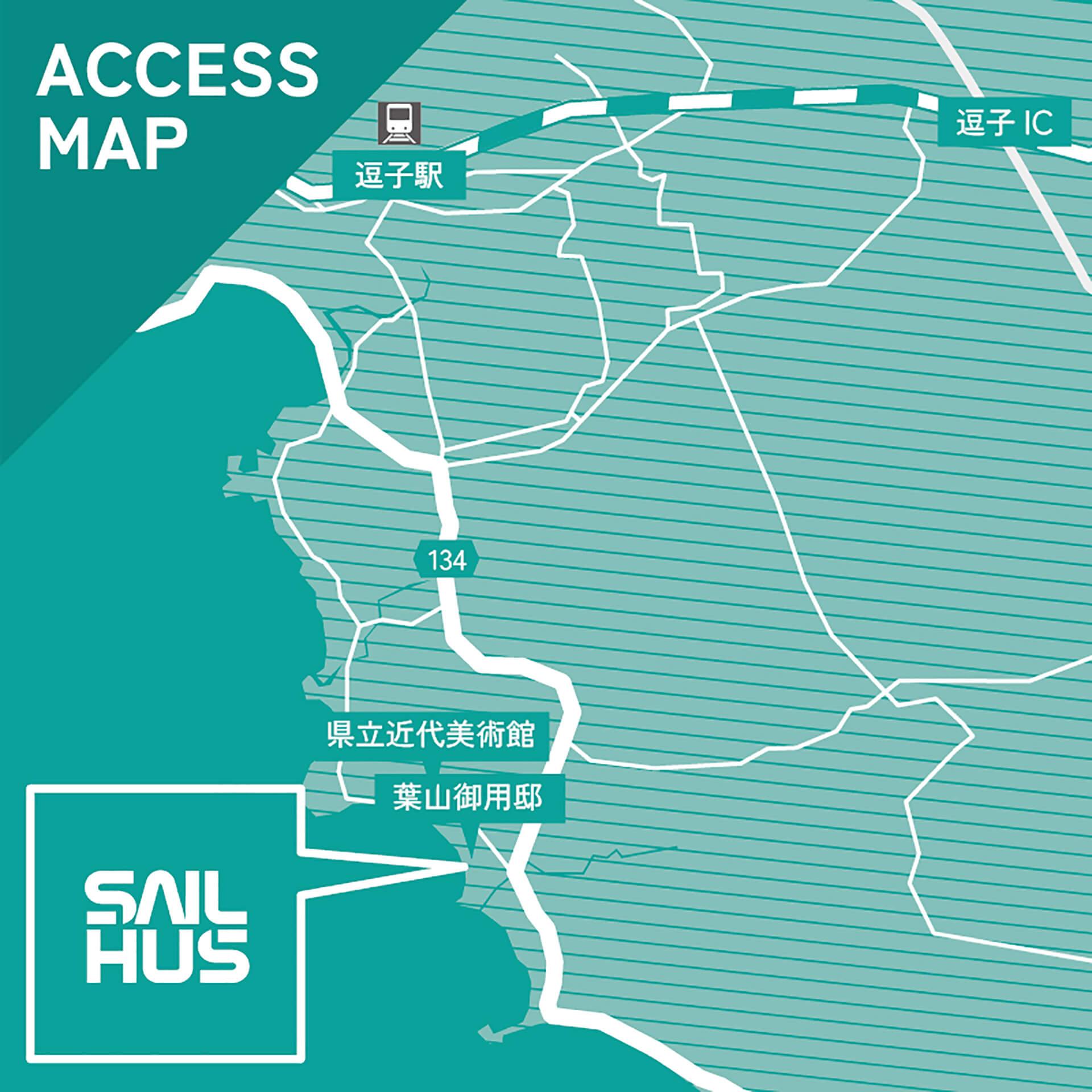 この写真は、海の家セイルハウスの所在地を示す地図です