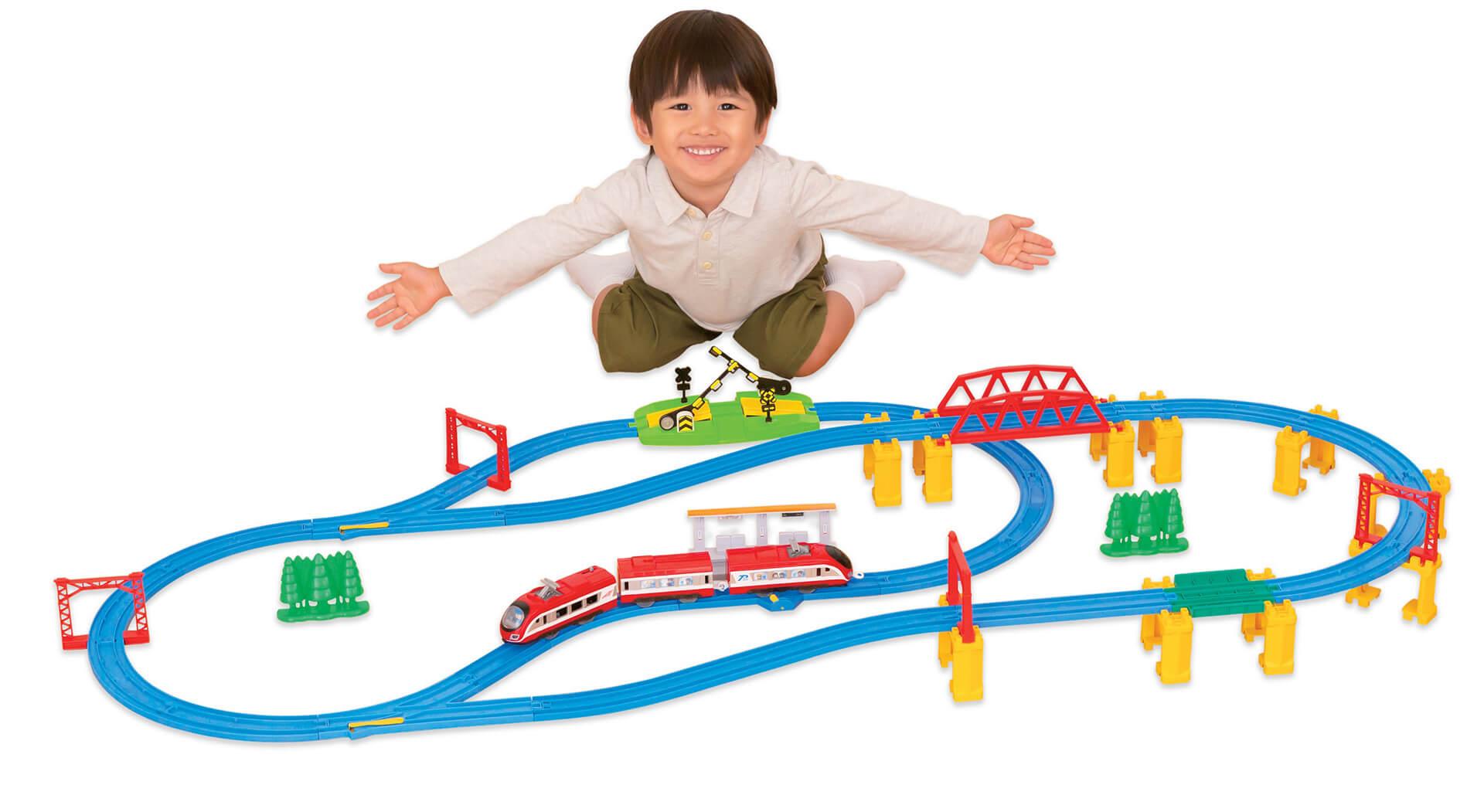 この写真は西武ちちプラレール駅のラリー達成の抽選でもらえるプラレールセット