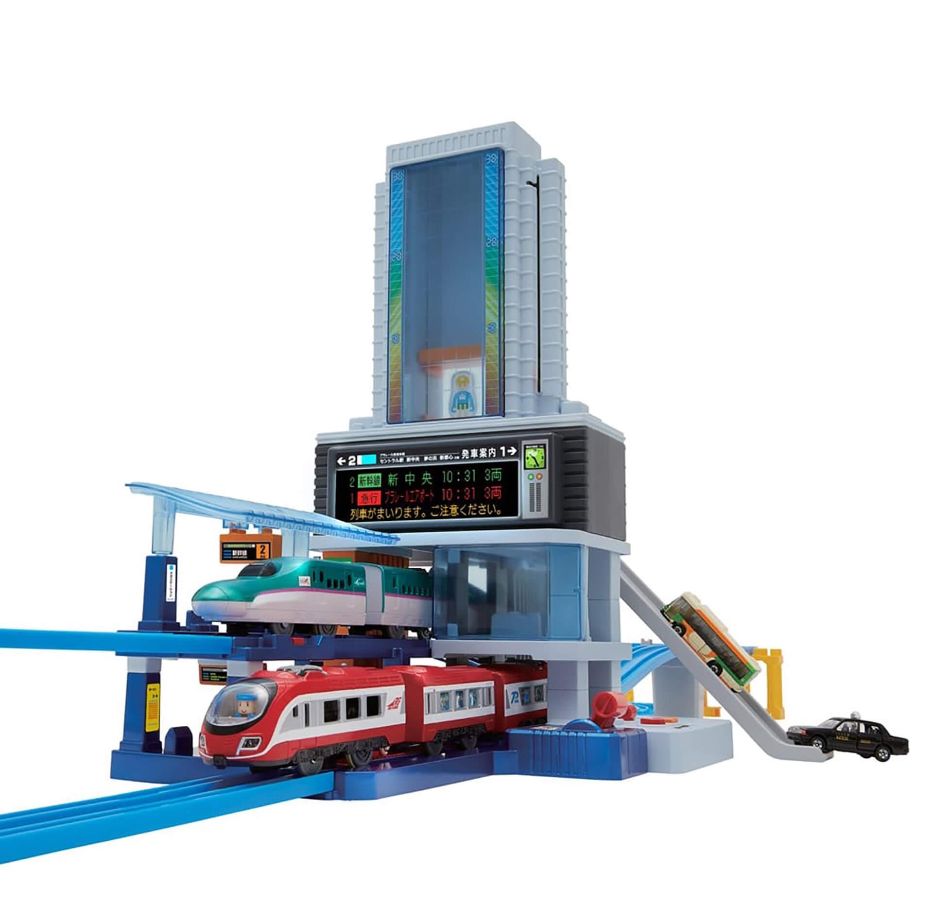 この写真は西武ちちプラレール駅のラリー達成の抽選でもらえるメガ駅ビル