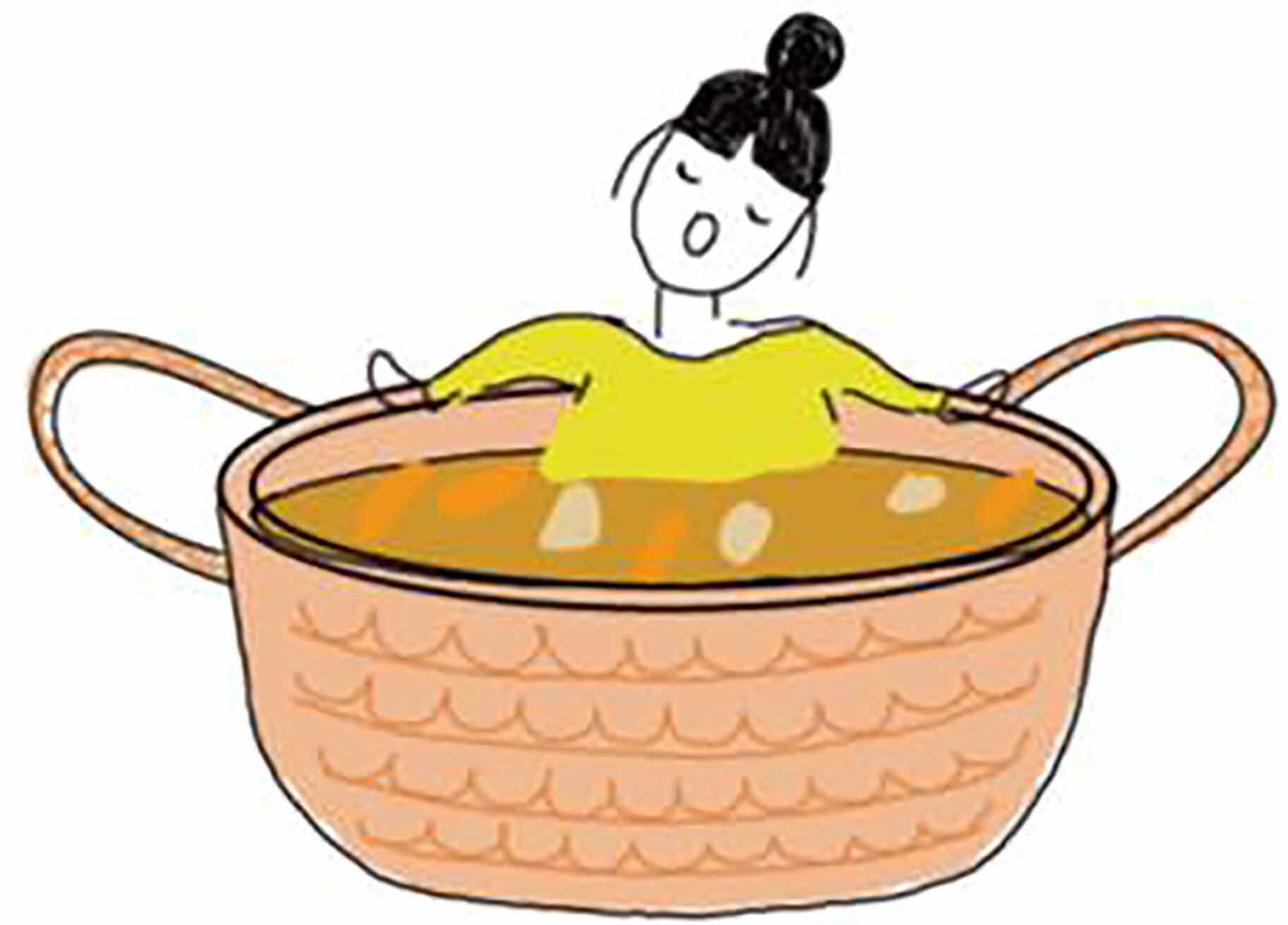 この写真は、華麗なるカレーカーニバルで設置される大風呂カレーのフォトスポットです