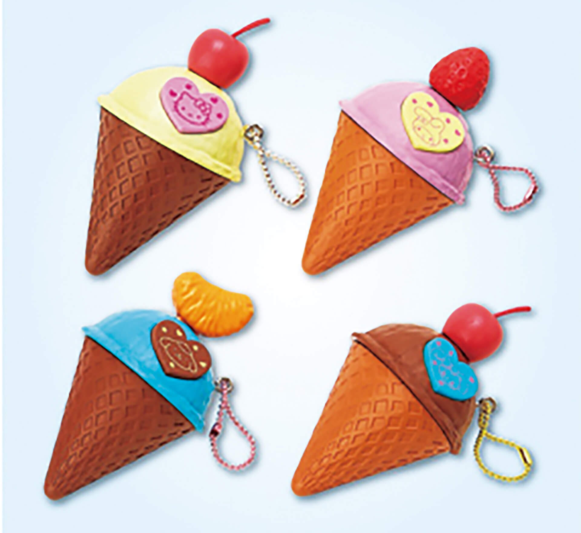 この写真はかわいいのヒミツ展のプレイスクール、マスコット作り アイスクリームの単品