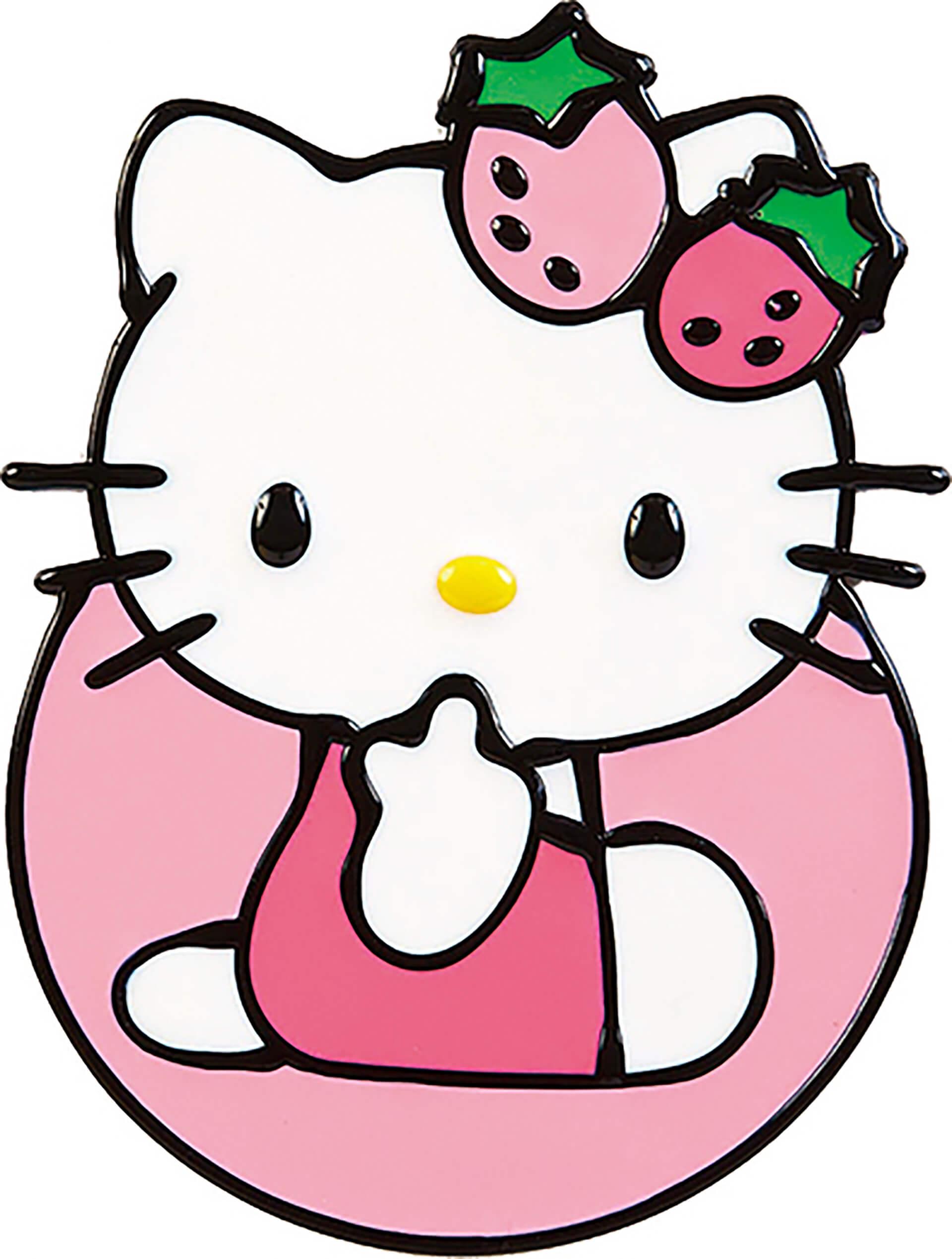 この写真はかわいいのヒミツ展のプレイスクール、ビニール焼き画。キティの絵柄です