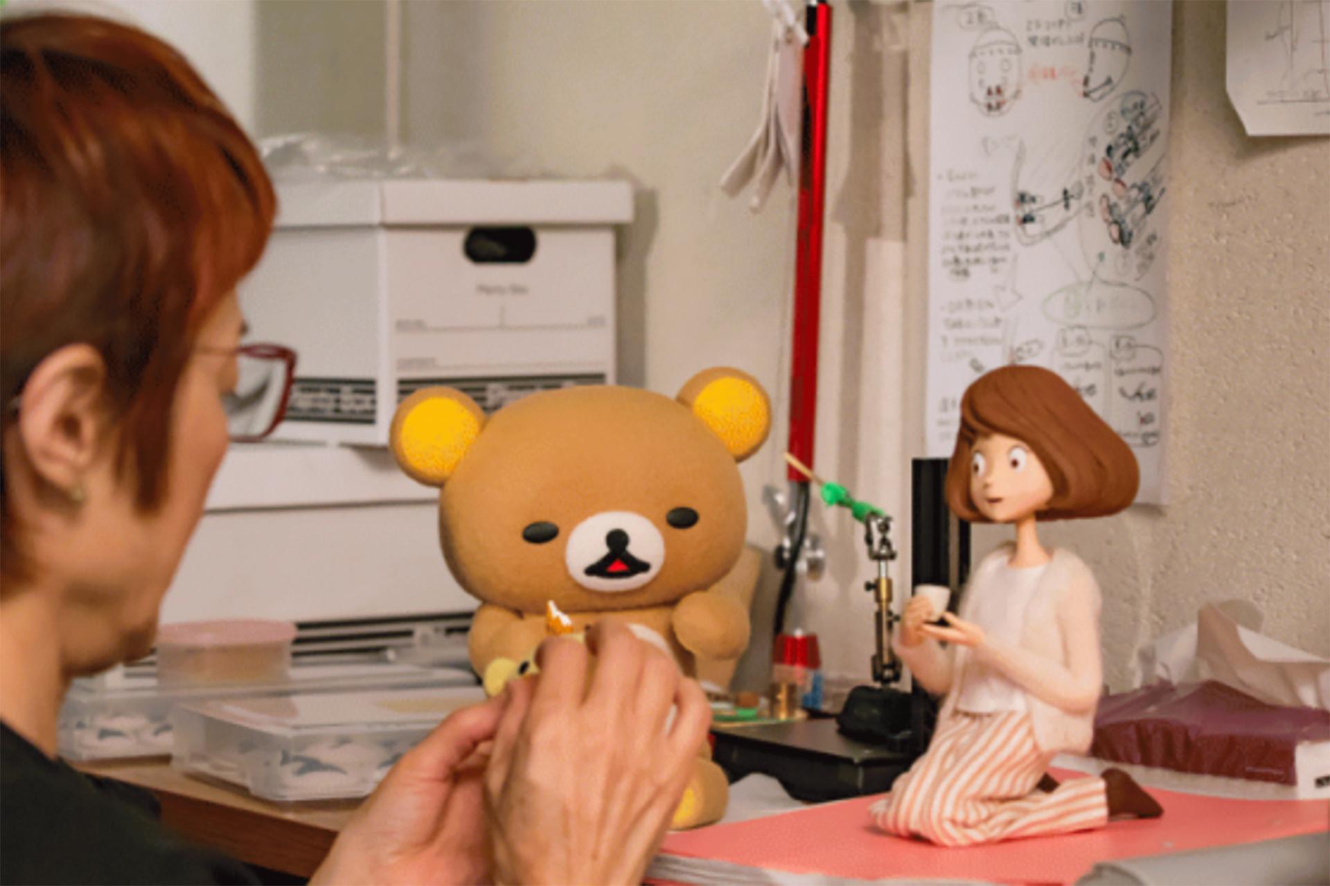 この写真はリラックマとカオルさん展のアニメのワンシーン