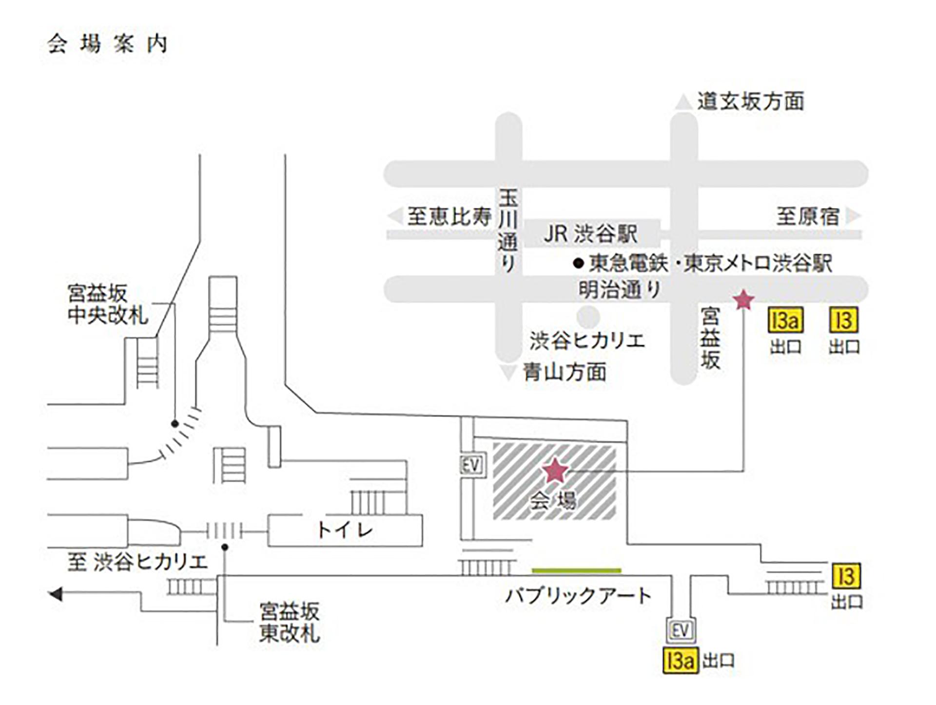 ステーションコンサート in 渋谷の案内俯瞰地図です