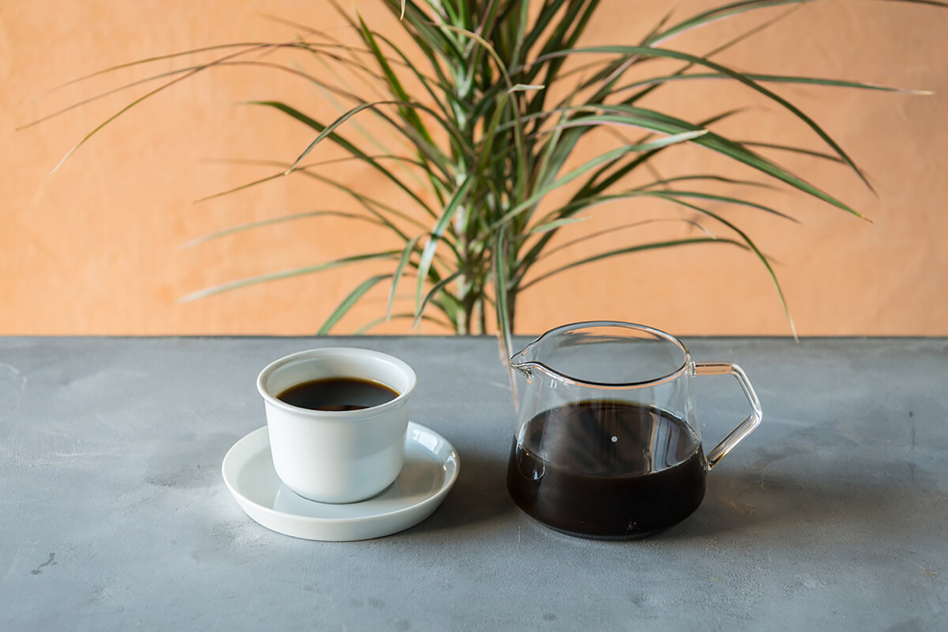 プライベート・ビーチ・クラブで提供されるコーヒー