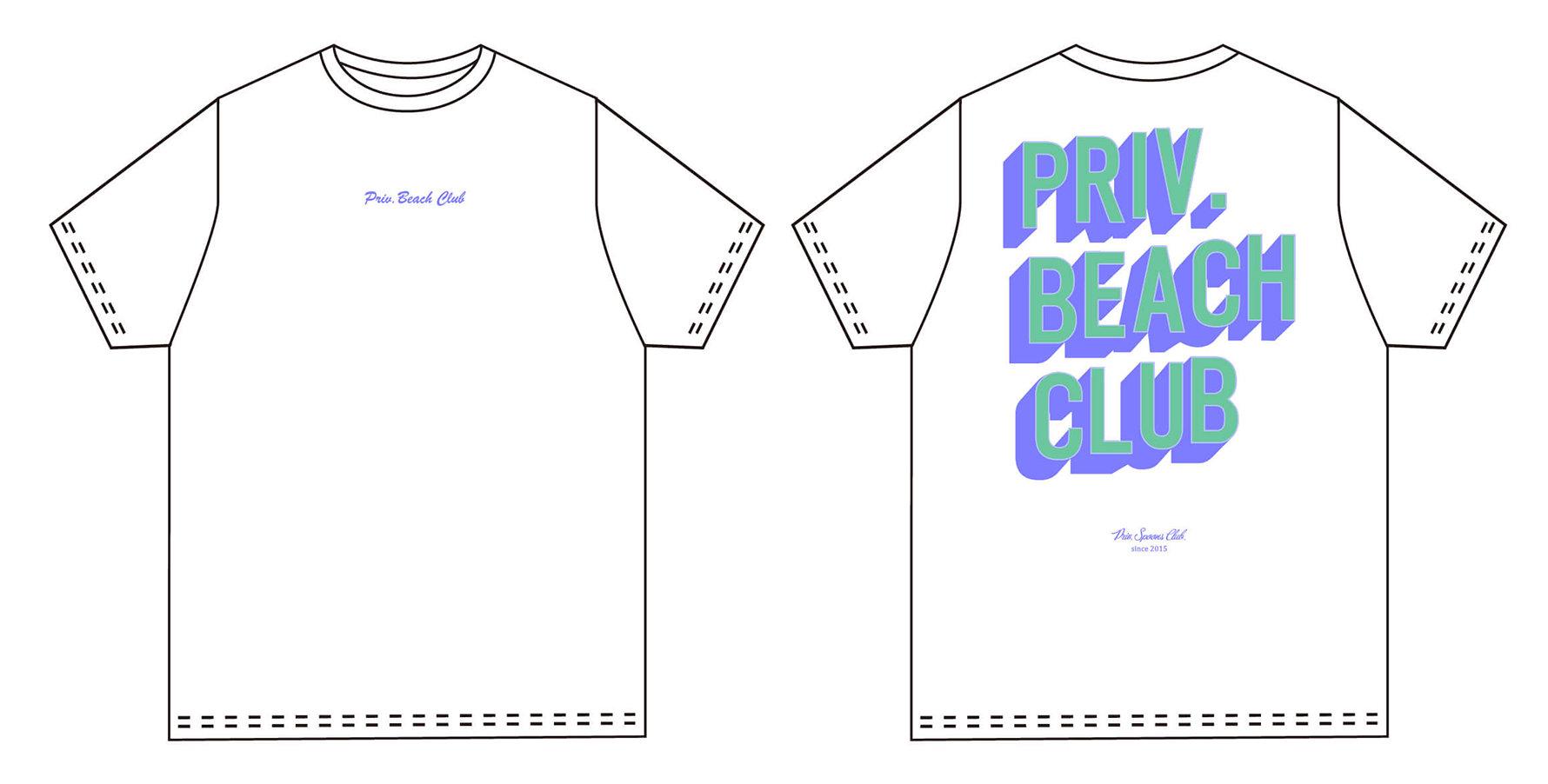 プライベート・ビーチ・クラブで販売されるPriv. Beach Club Tシャツ