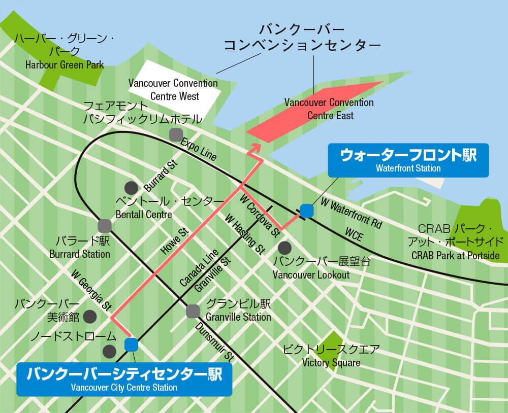バンクーバーコンベンショナルセンターの地図