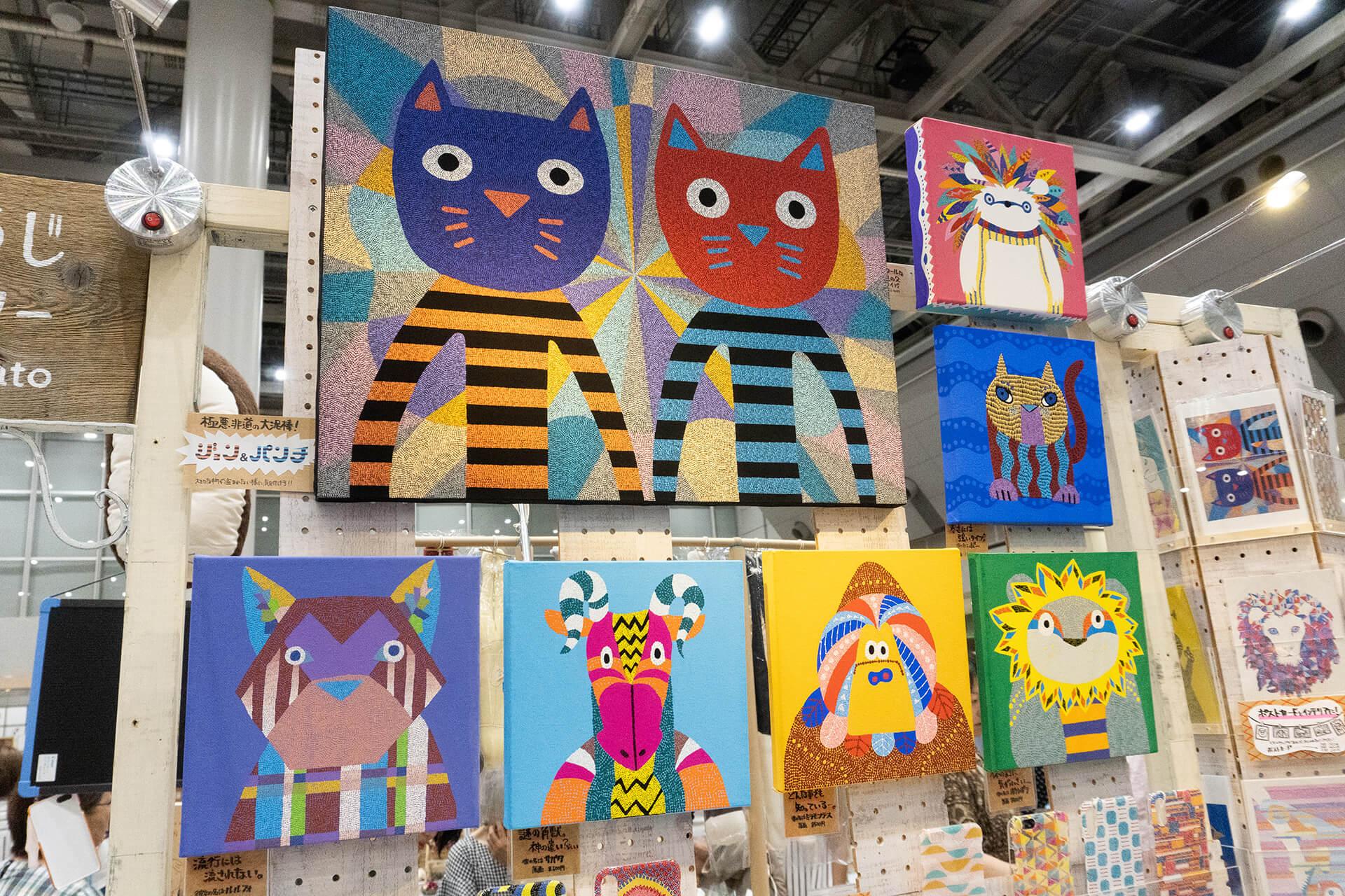 この写真はハンドメイドインジャパンにあった楊枝アート
