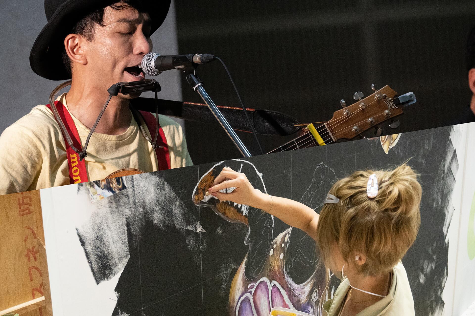 この写真はハンドメイドインジャパンで公演した歌手とアーティスト
