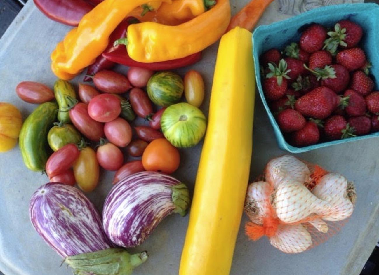 海外のファーマーズマーケットの野菜