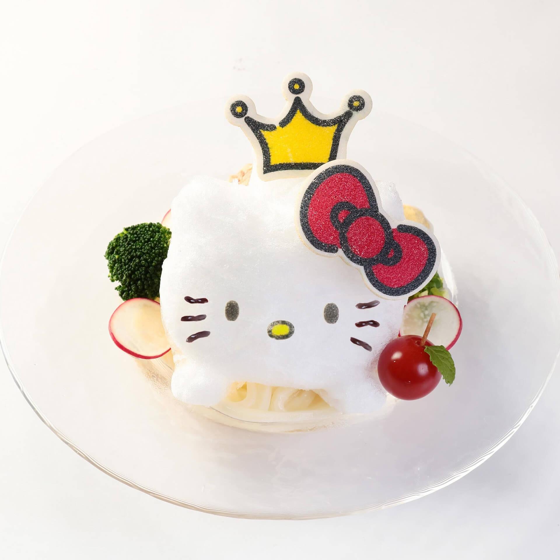 ハローキティカフェ食せるフード例・ハローキティのひんやり氷うどん