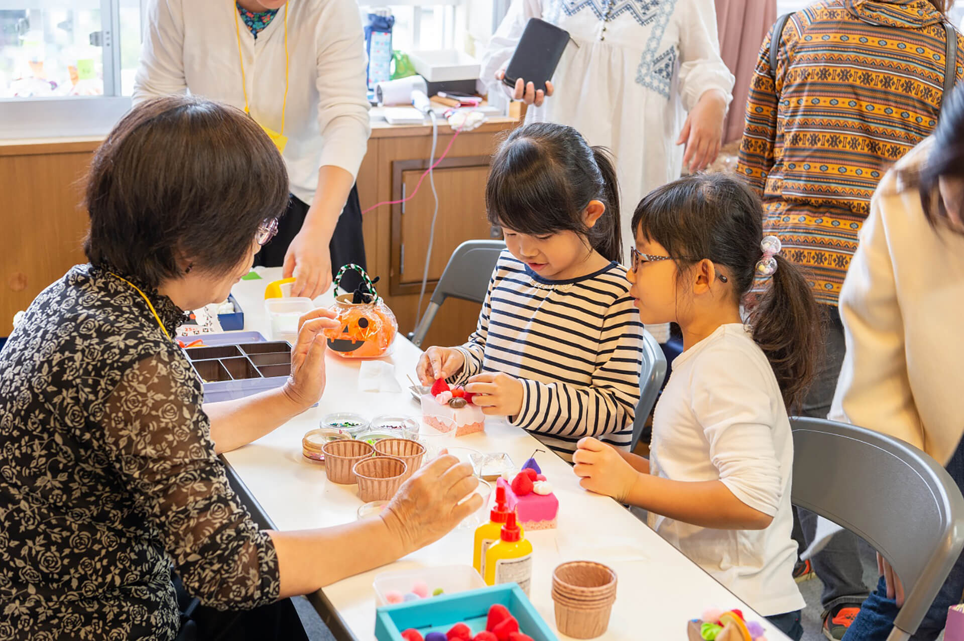 東京おもちゃまつり2019の工作風景