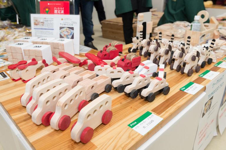 東京おもちゃまつり2019で販売される木のおもちゃ