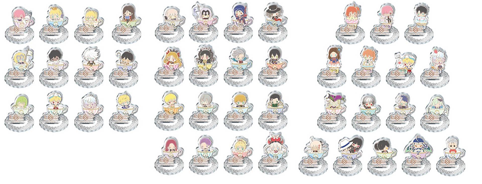 Fate/Grand Order Design produced by Sanrio カフェの物販キーホルダー