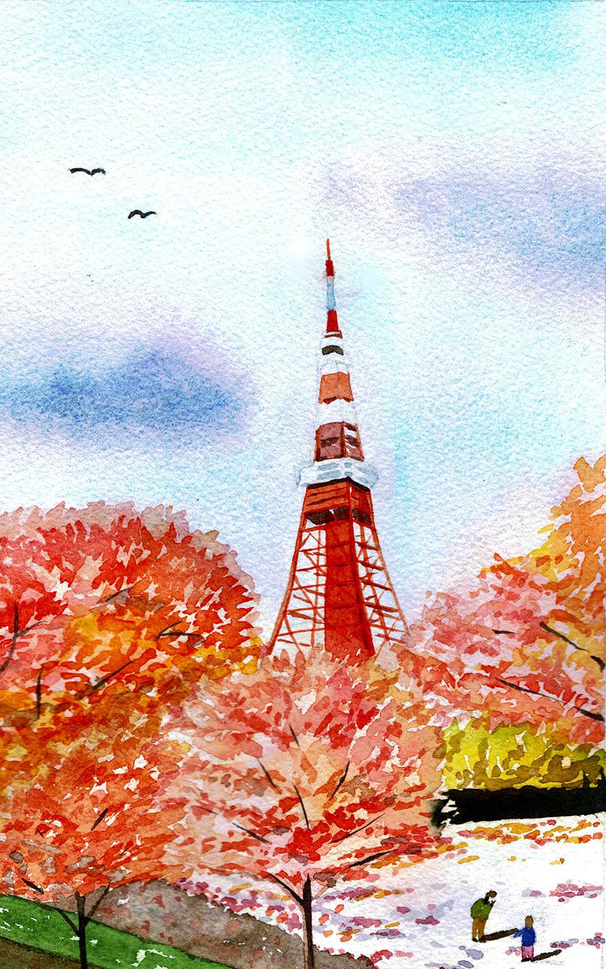 秋のイメージイラスト
