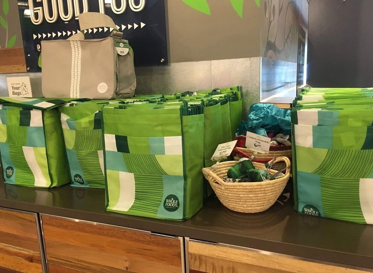 ホールフーズのリサイクルバッグ