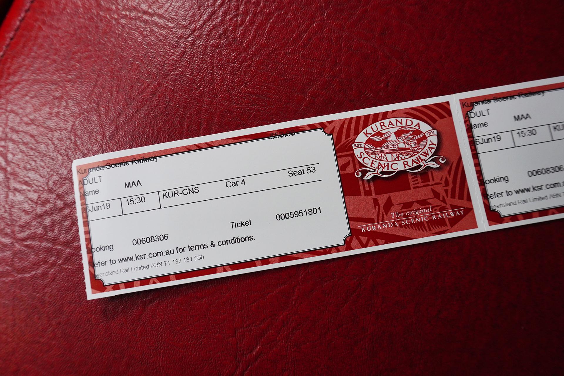 キュランダ列車チケット