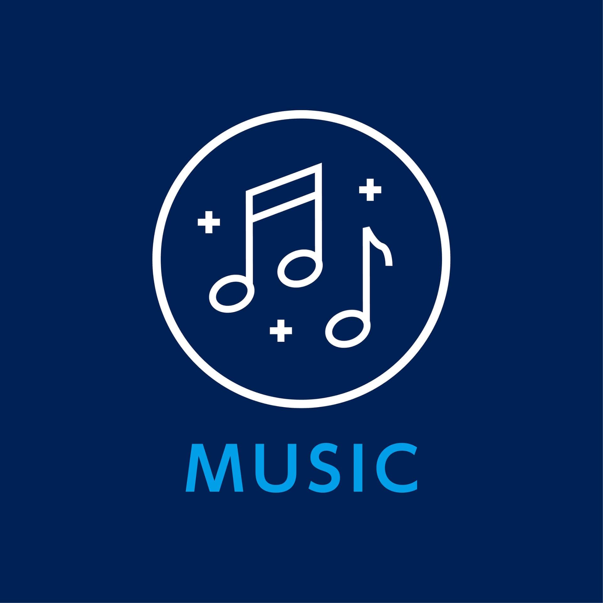 BLUE CAMP 2019音楽ロゴ