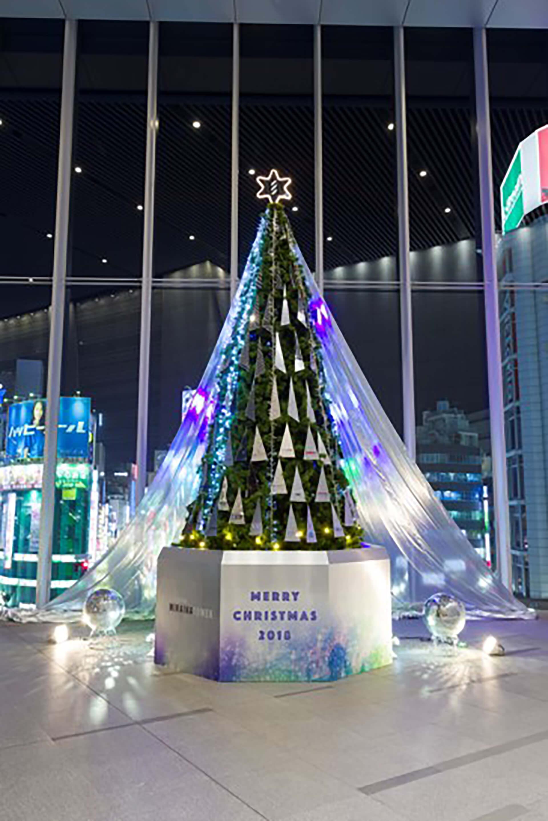 ライトアップ・JR新宿ミライナタワー