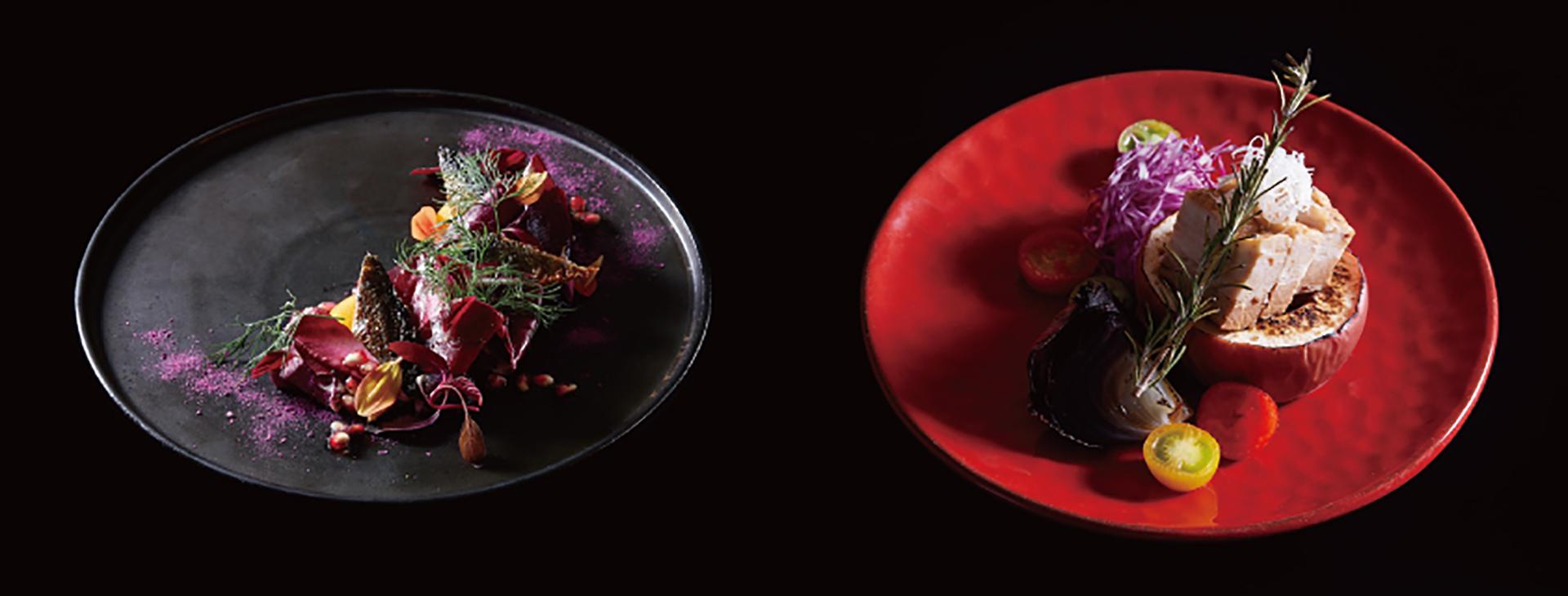 秋刀魚の赤いサラダ