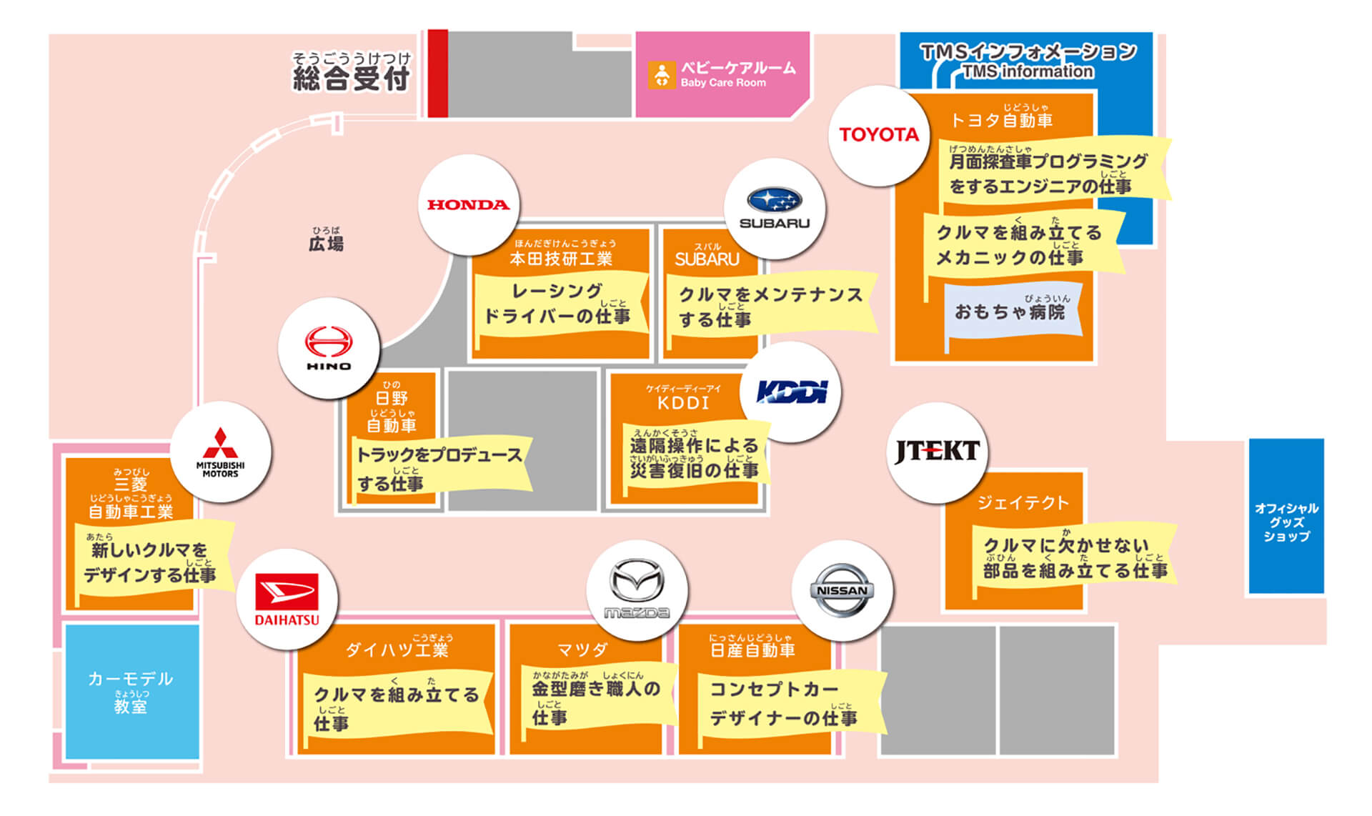 東京モーターショー2019・俯瞰地図・キッザニア