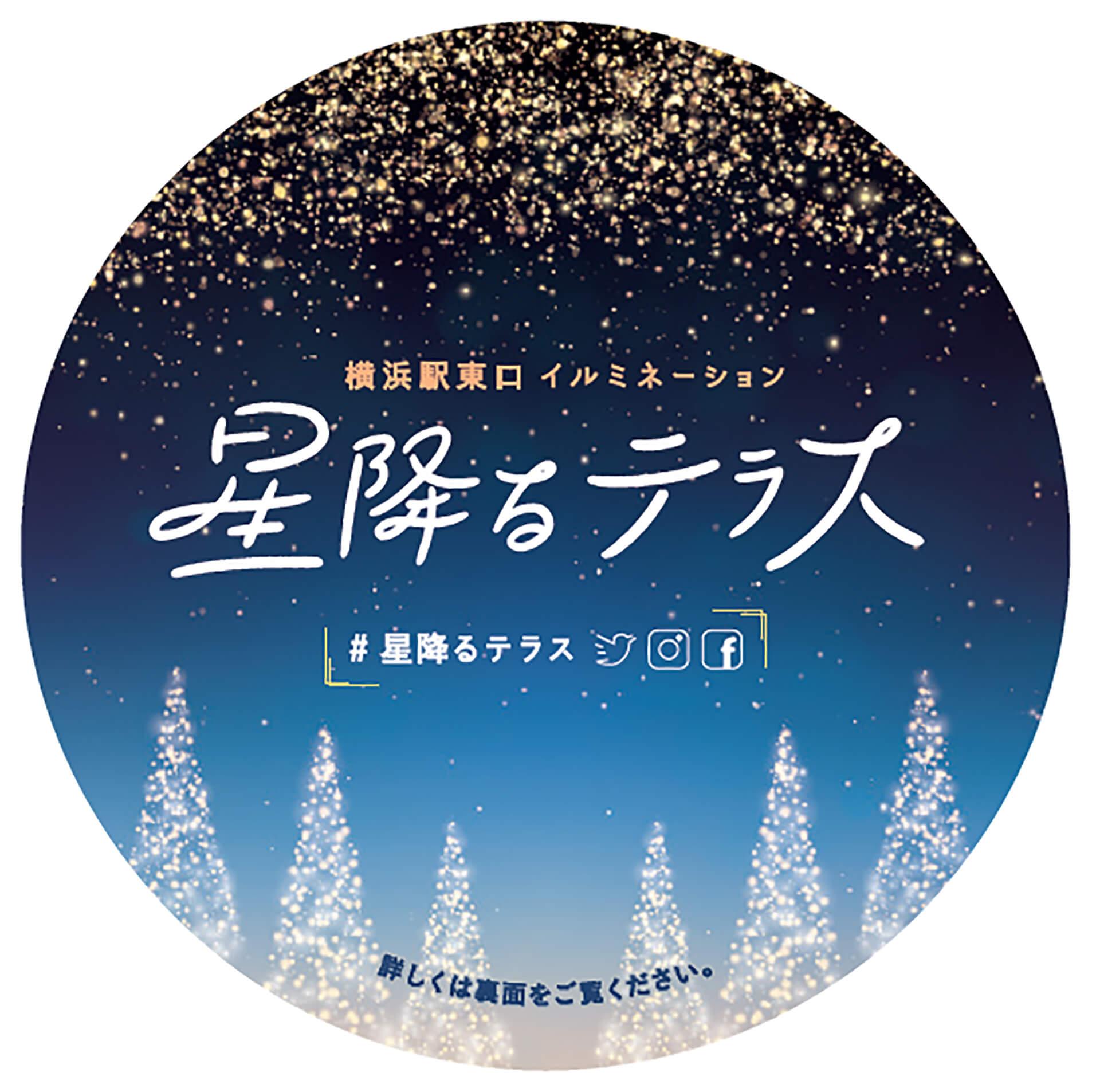 横浜駅東口イルミネーション 星降るテラスバナー