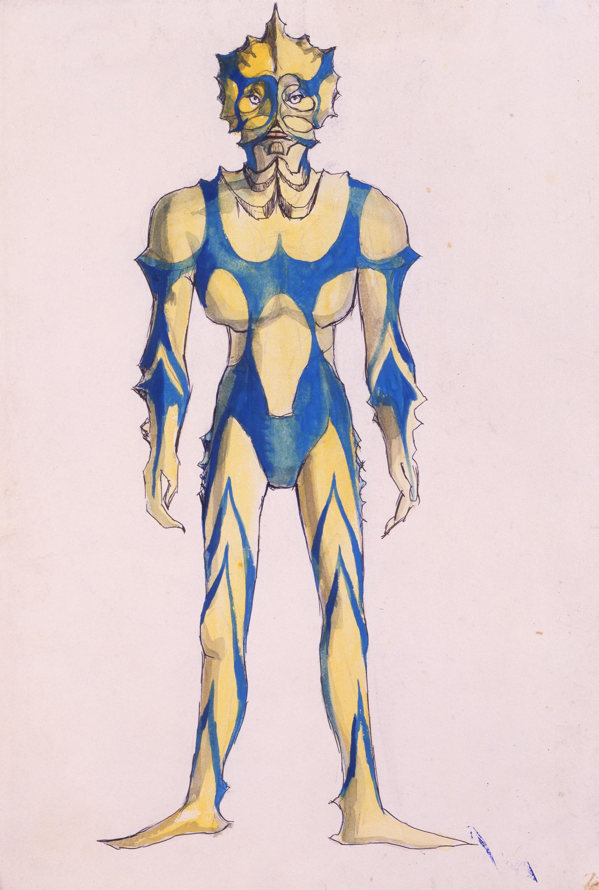 『シュール』」展・成田亨 《ウルトラマン初稿》