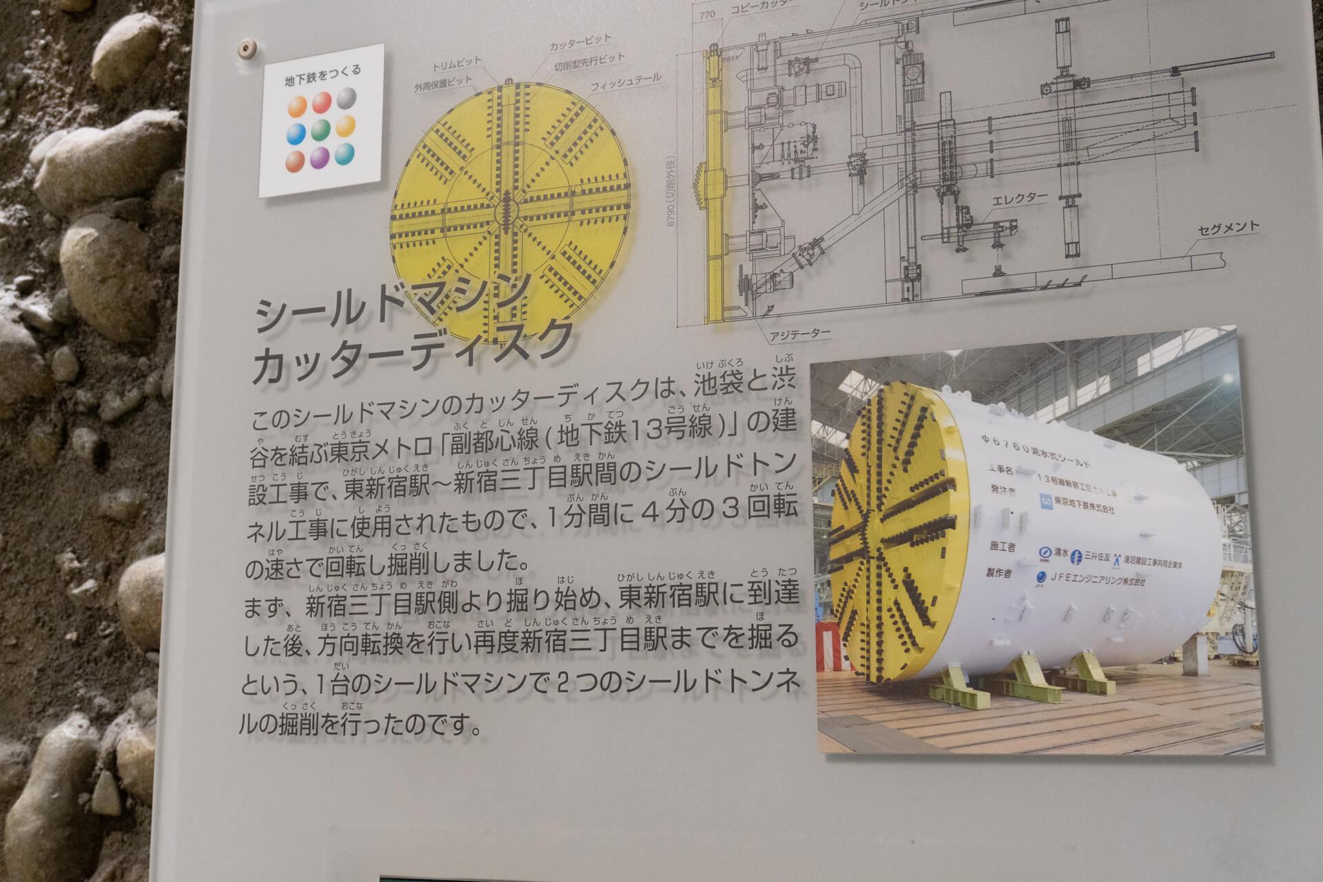 地下鉄博物館案内板