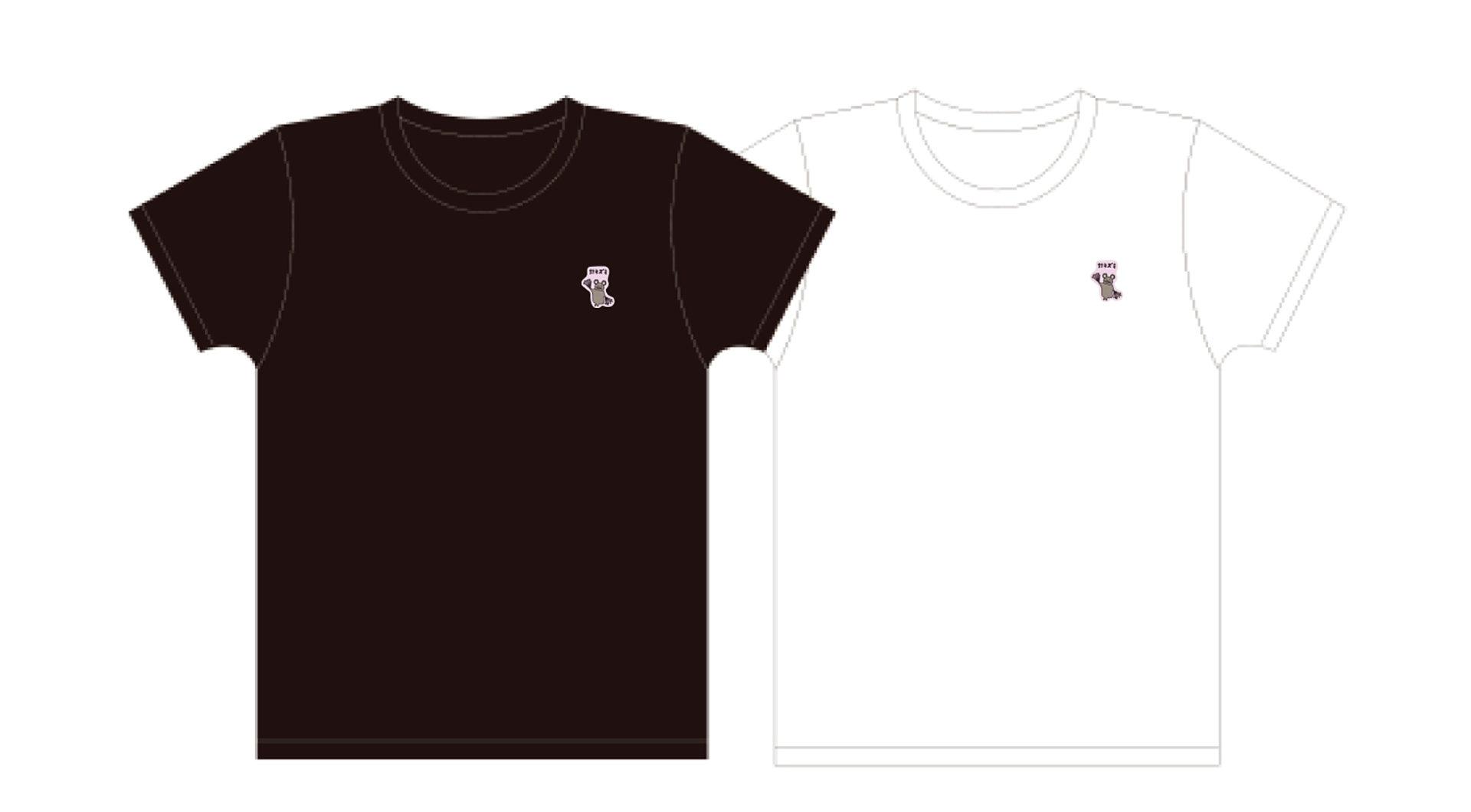 針ネズミ 刺繍Tシャツ(黒/白) 各¥5,300