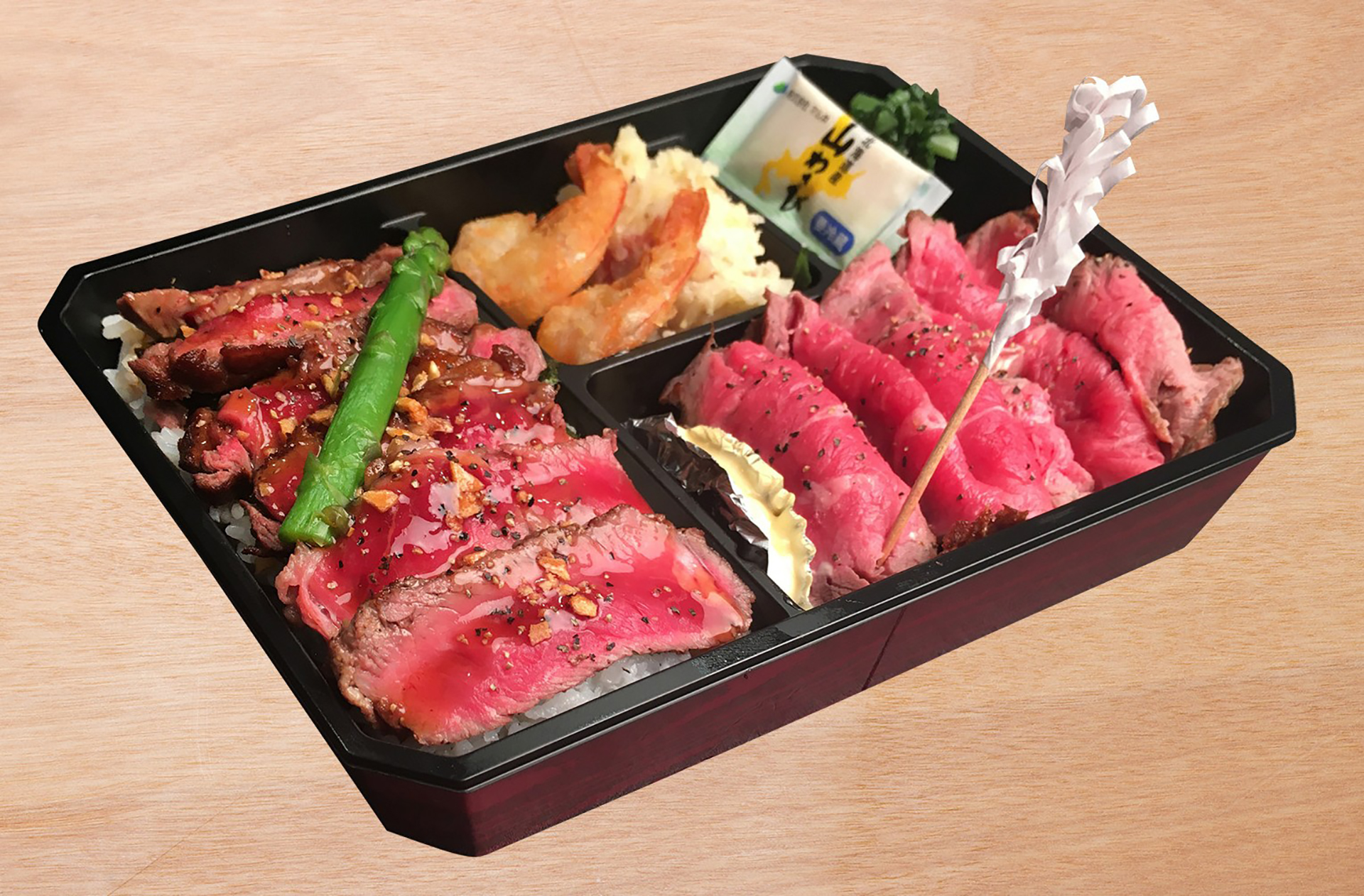 レストラン MARUGO /牛ステーキ&ローストビーフ弁当