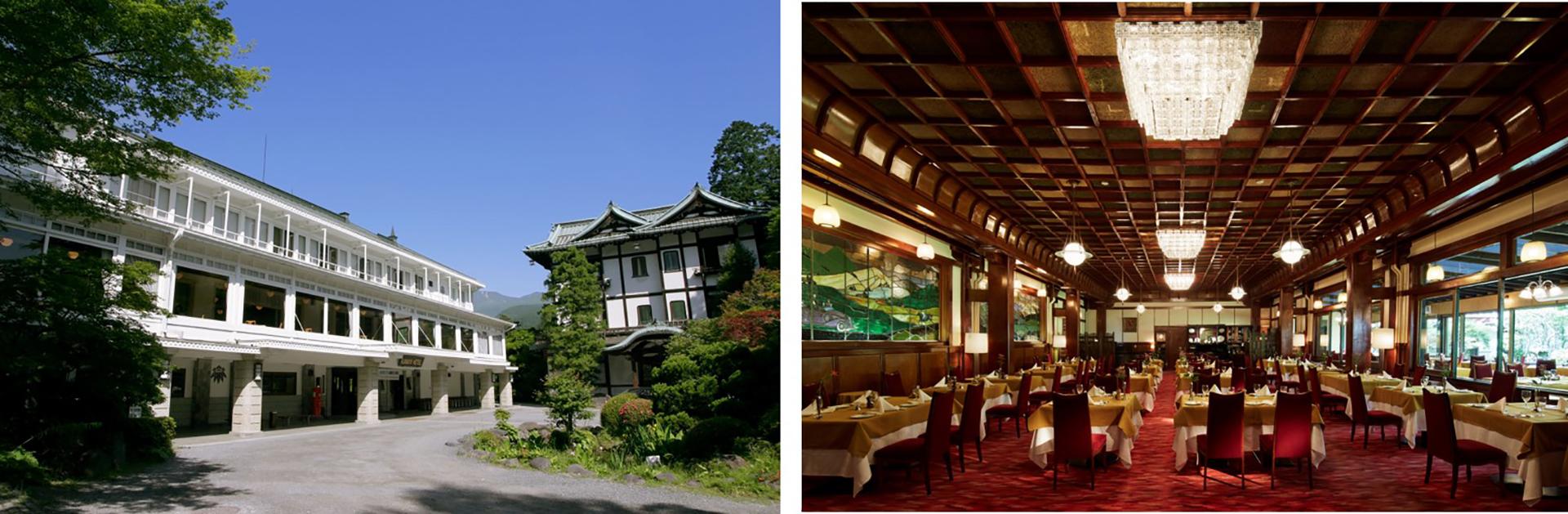 左)日光金谷ホテル、 右)万平ホテル