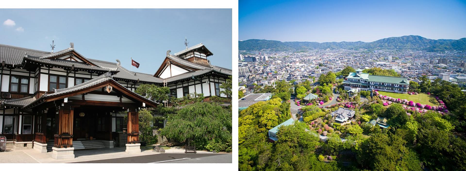 左)奈良ホテル、 右)蒲郡クラシックホテル