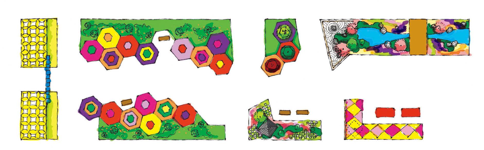 七つの文様を奏でる庭・会場俯瞰地図