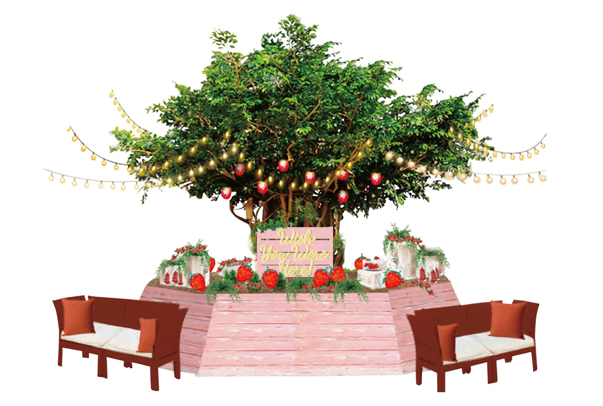 チョコいちごツリー