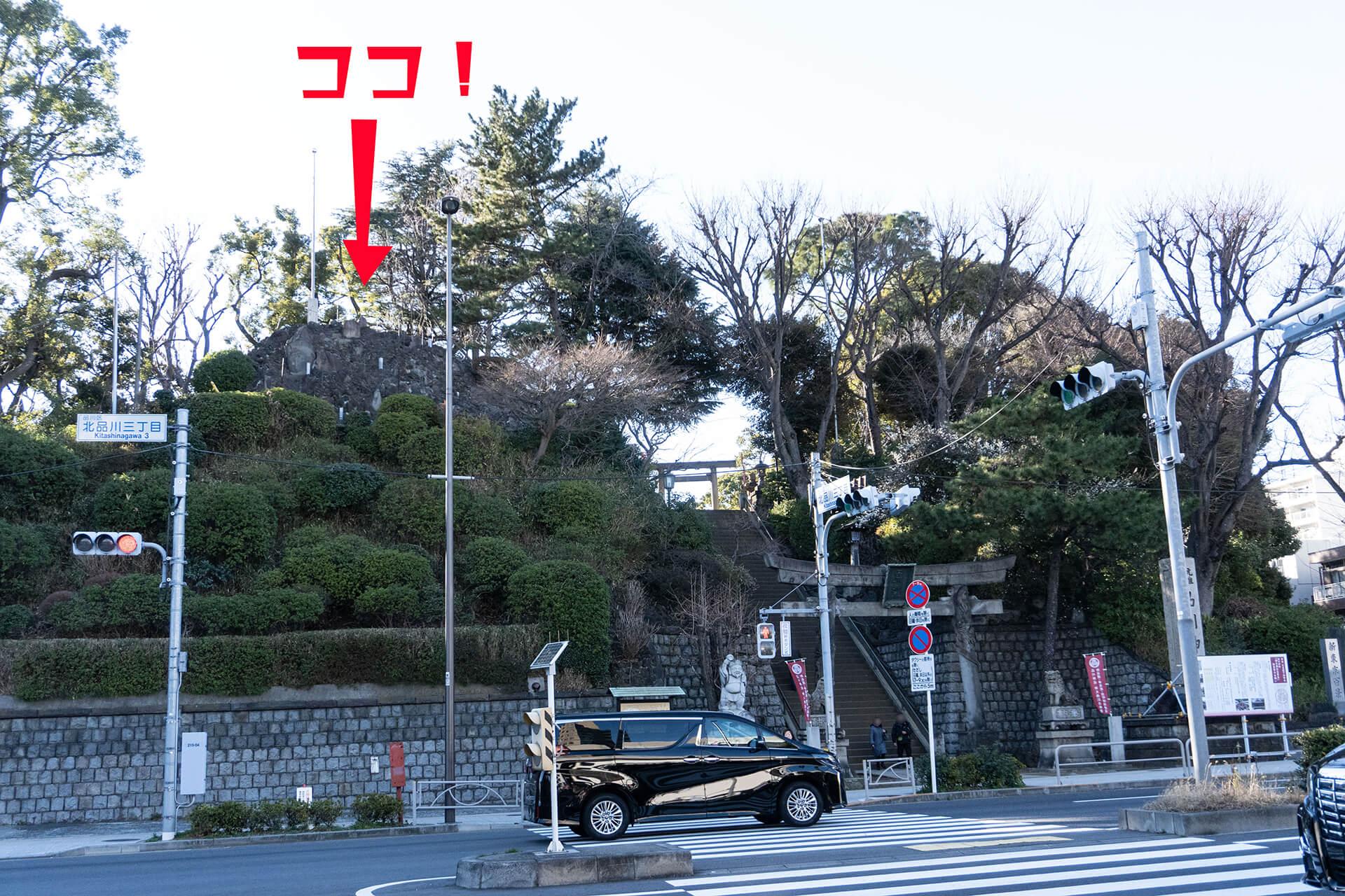 品川神社全景