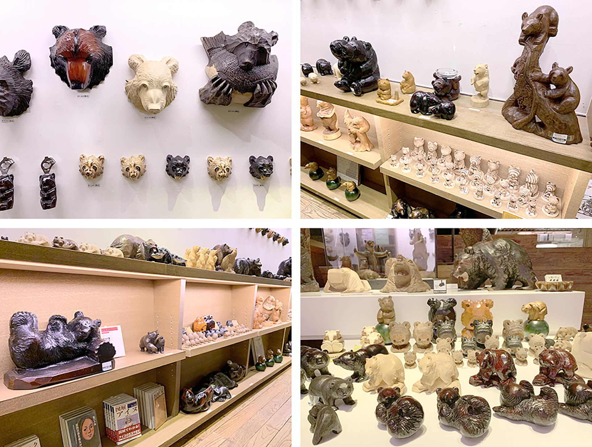 熊乃屋阿野みやげ店 ~北海道民芸と木彫り熊~ 販売品
