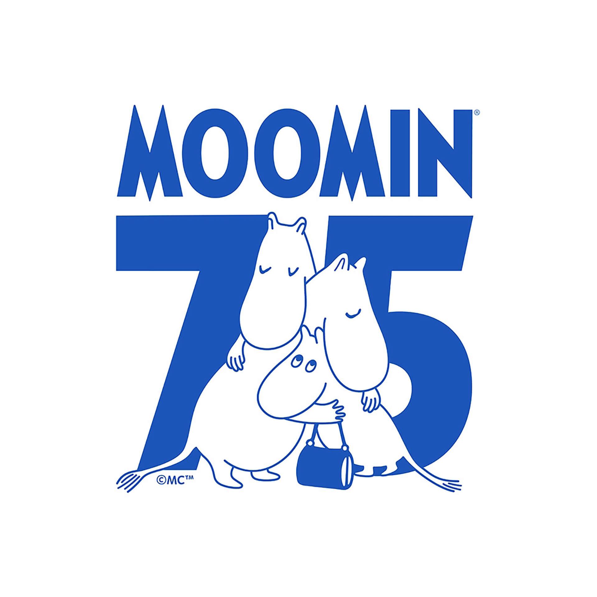 ムーミン75周年ロゴ