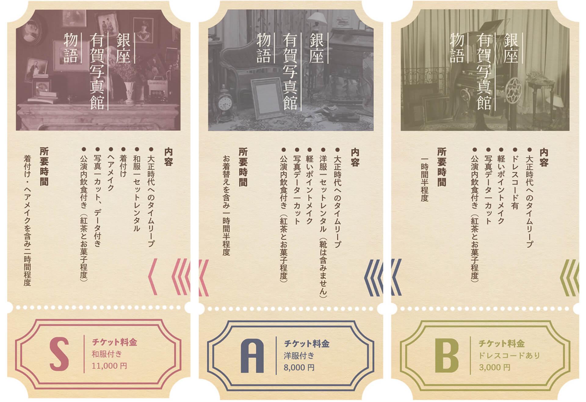 銀座 有賀写真館物語・チケット