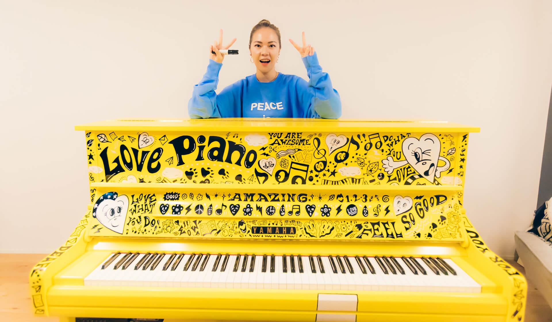 Chocomoo(チョコムー)個展・ラブピアノ