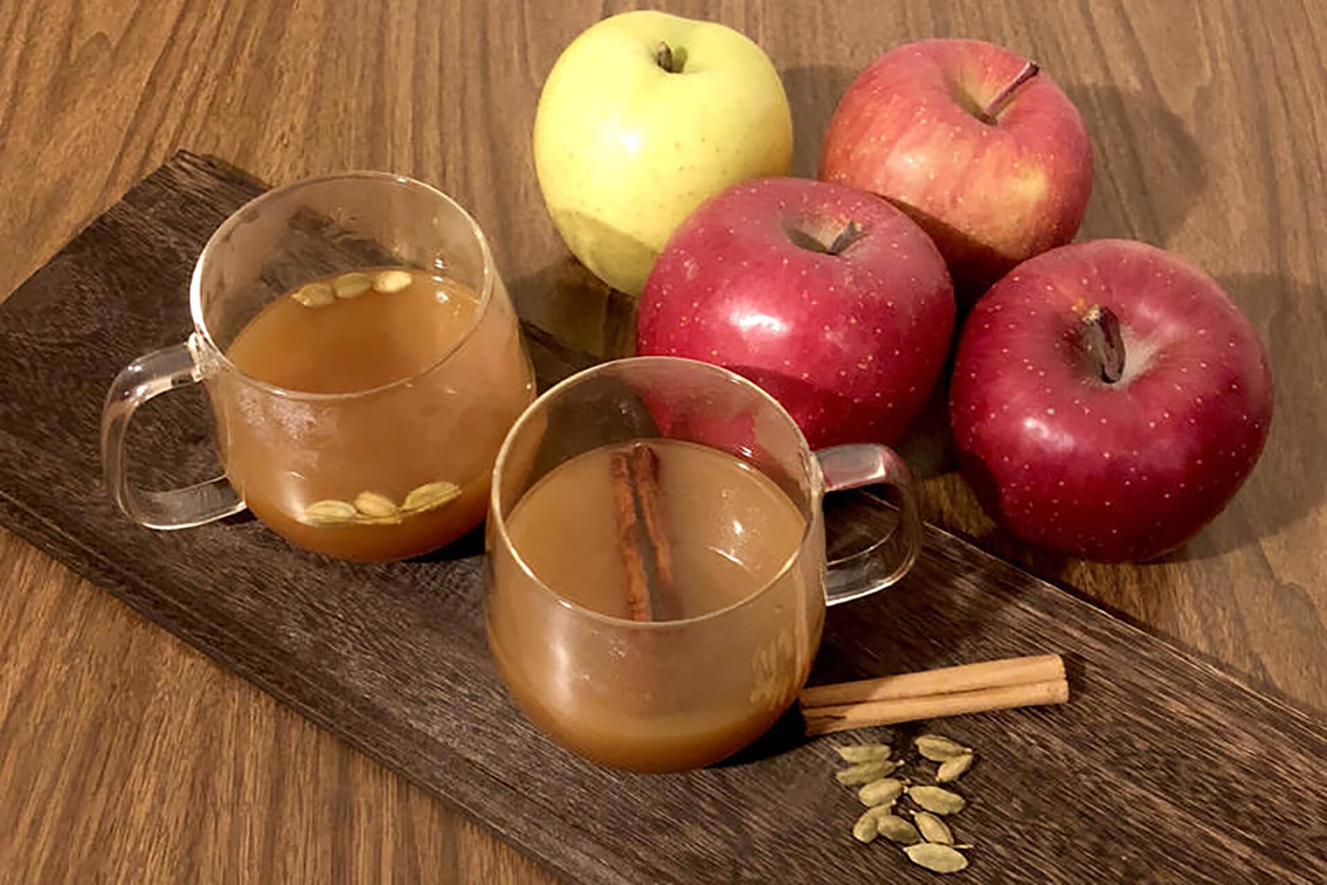 100%りんごジュースで作る 「#おうちカフェ」満喫レシピ