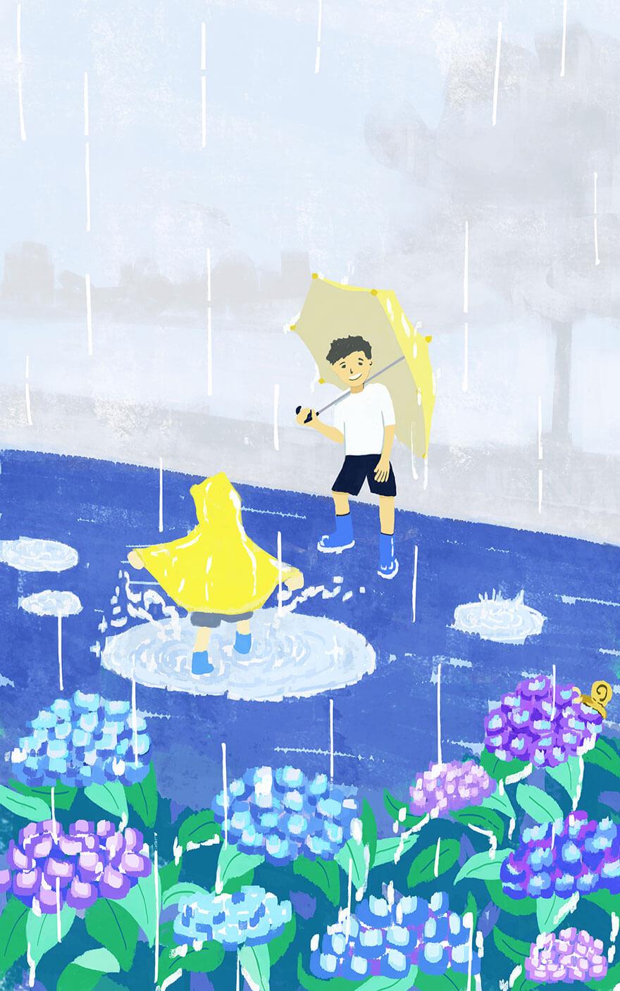 梅雨のイメージイラスト