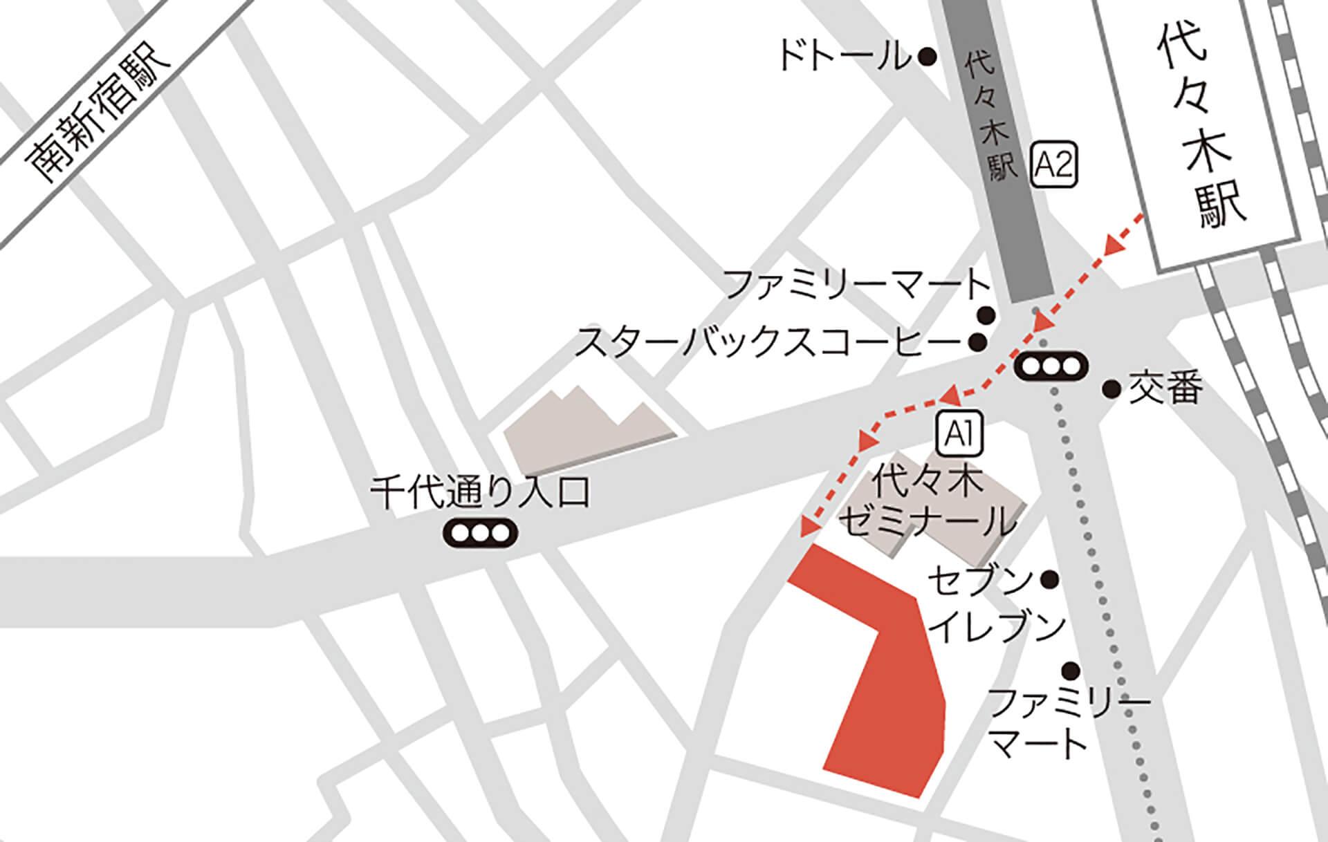 代々木VILLAGE 地図