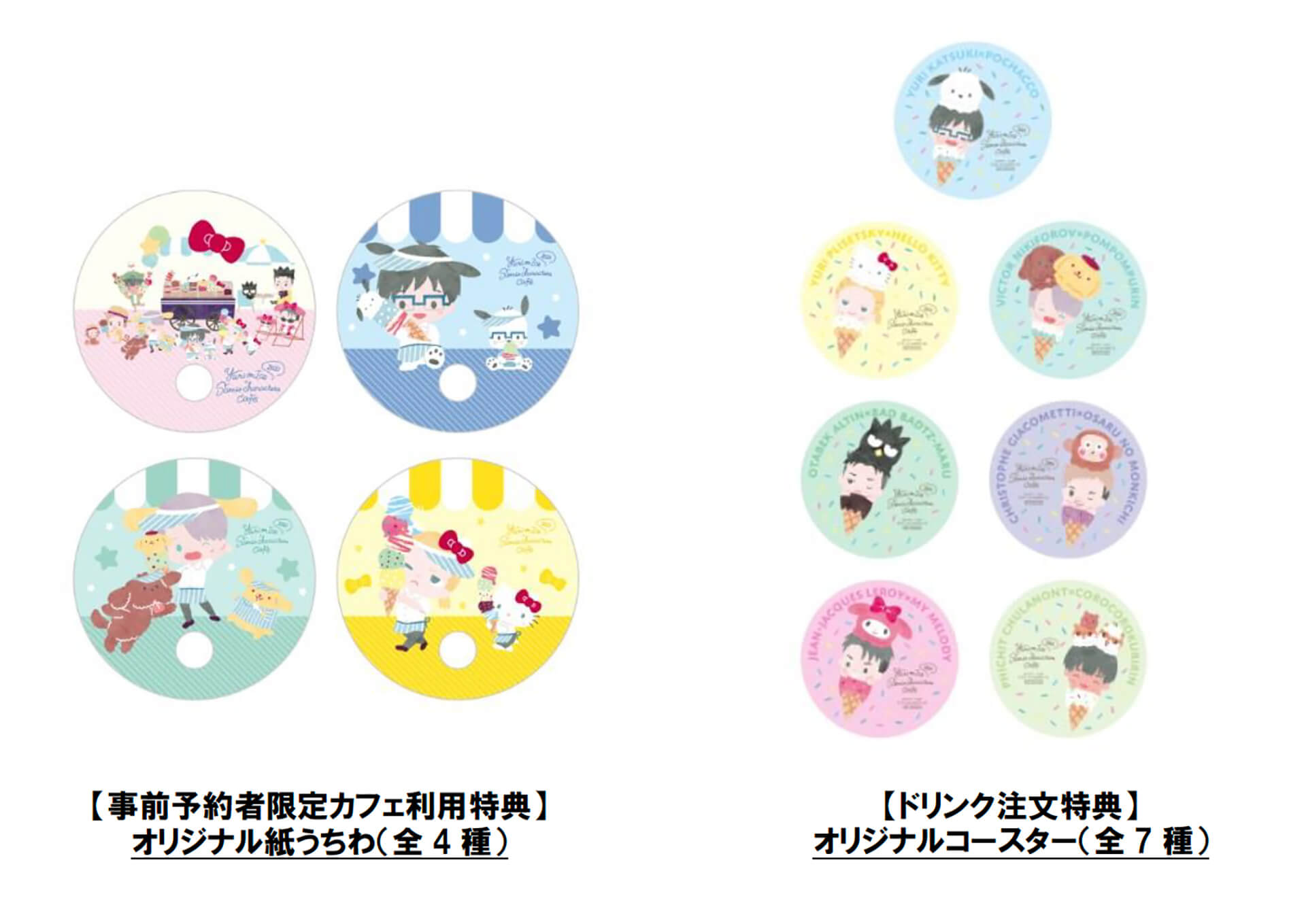 Yuri on Ice×Sanrio characters Cafe 2020