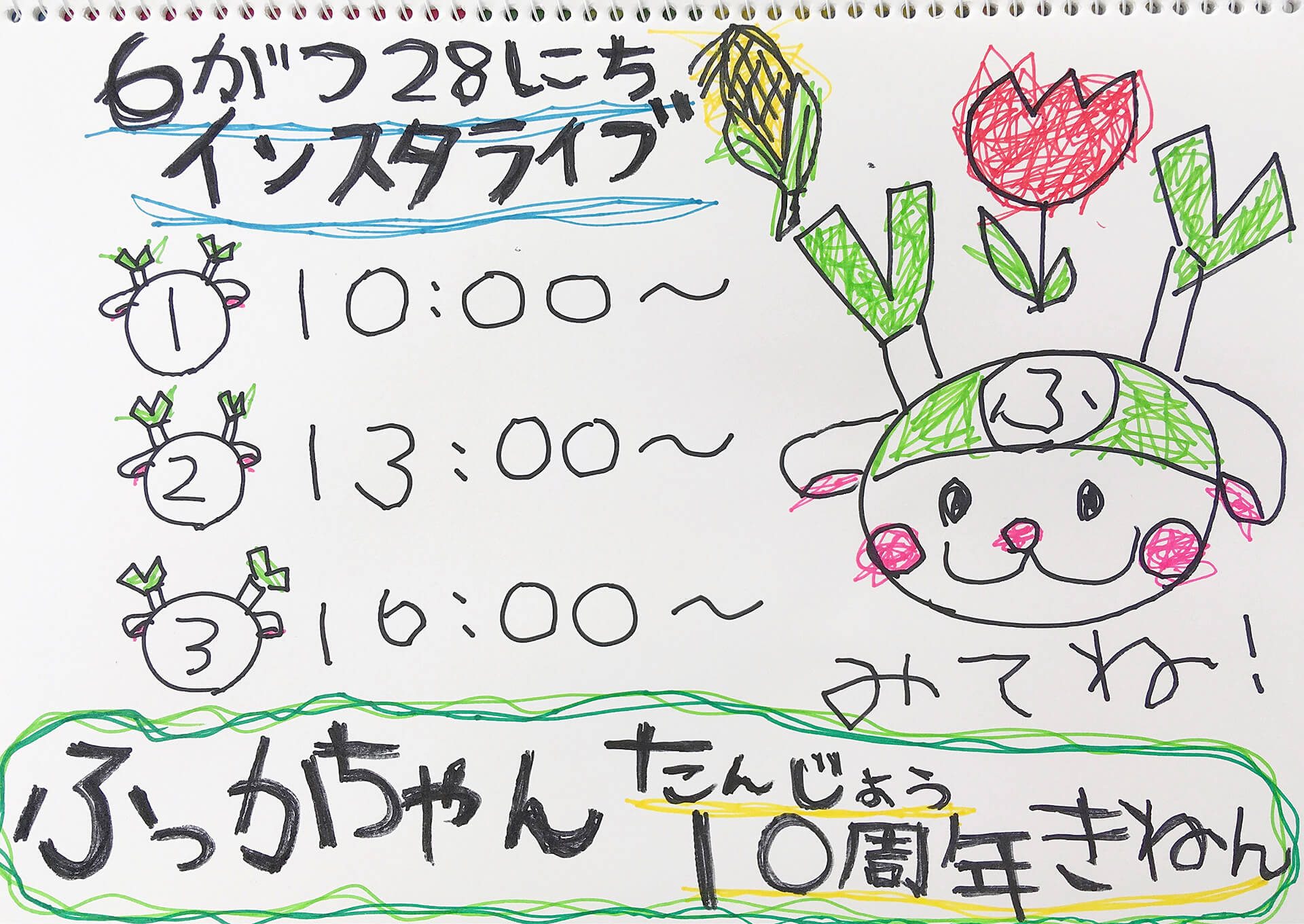 ふっかちゃんBDインスタライブ(#ふっかリモートぱーちぃ)