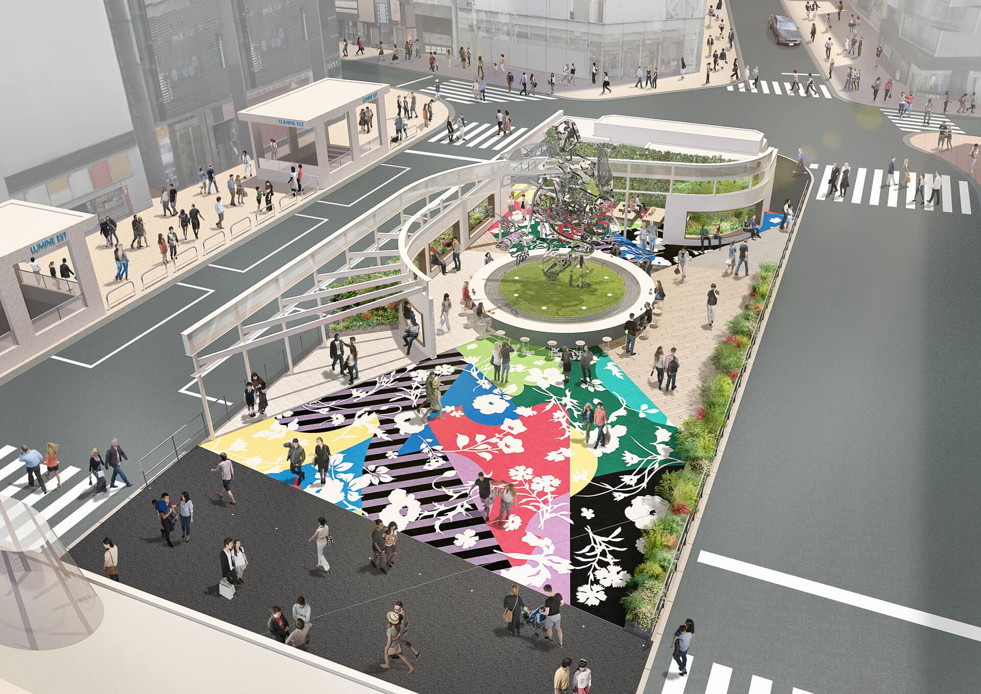ルミネ新宿東口駅前広場