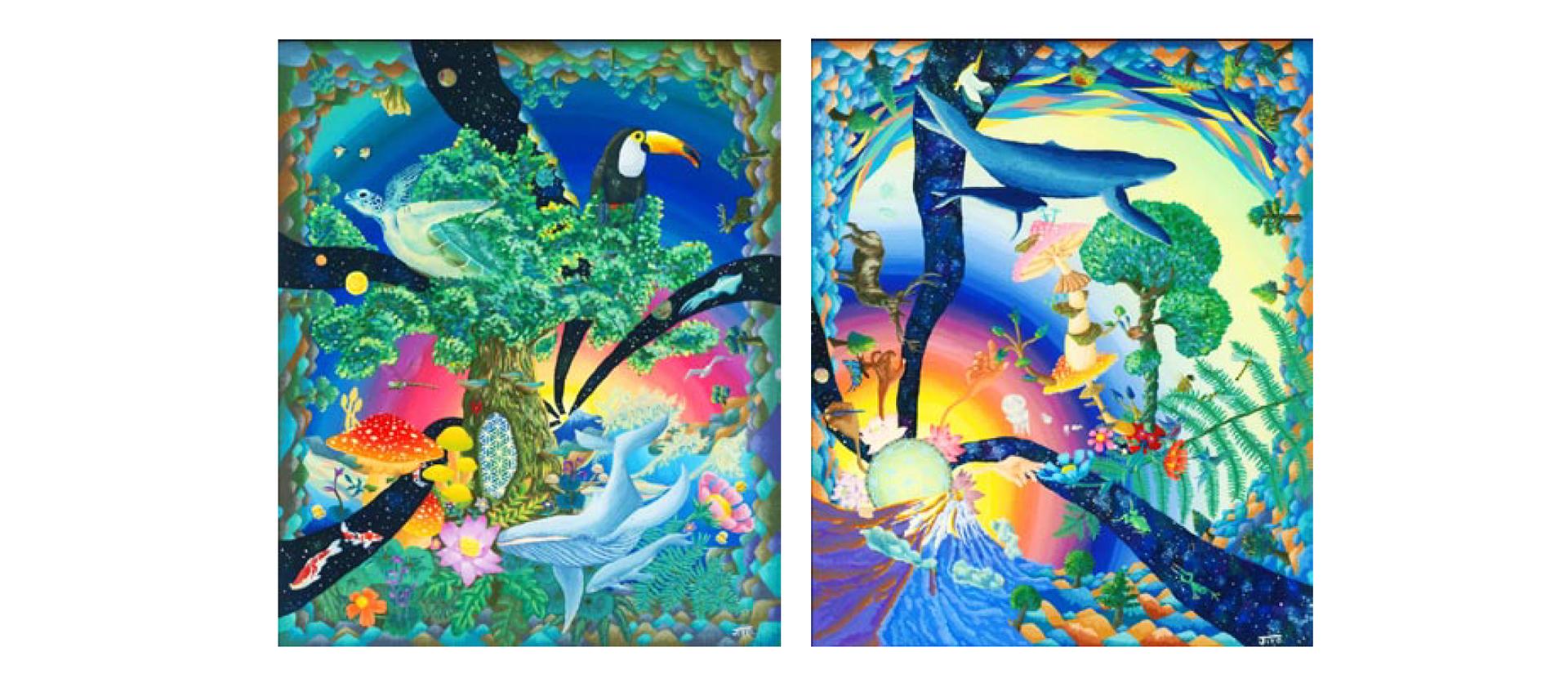 Jiro : アクリル画展 ~宇宙の記憶~