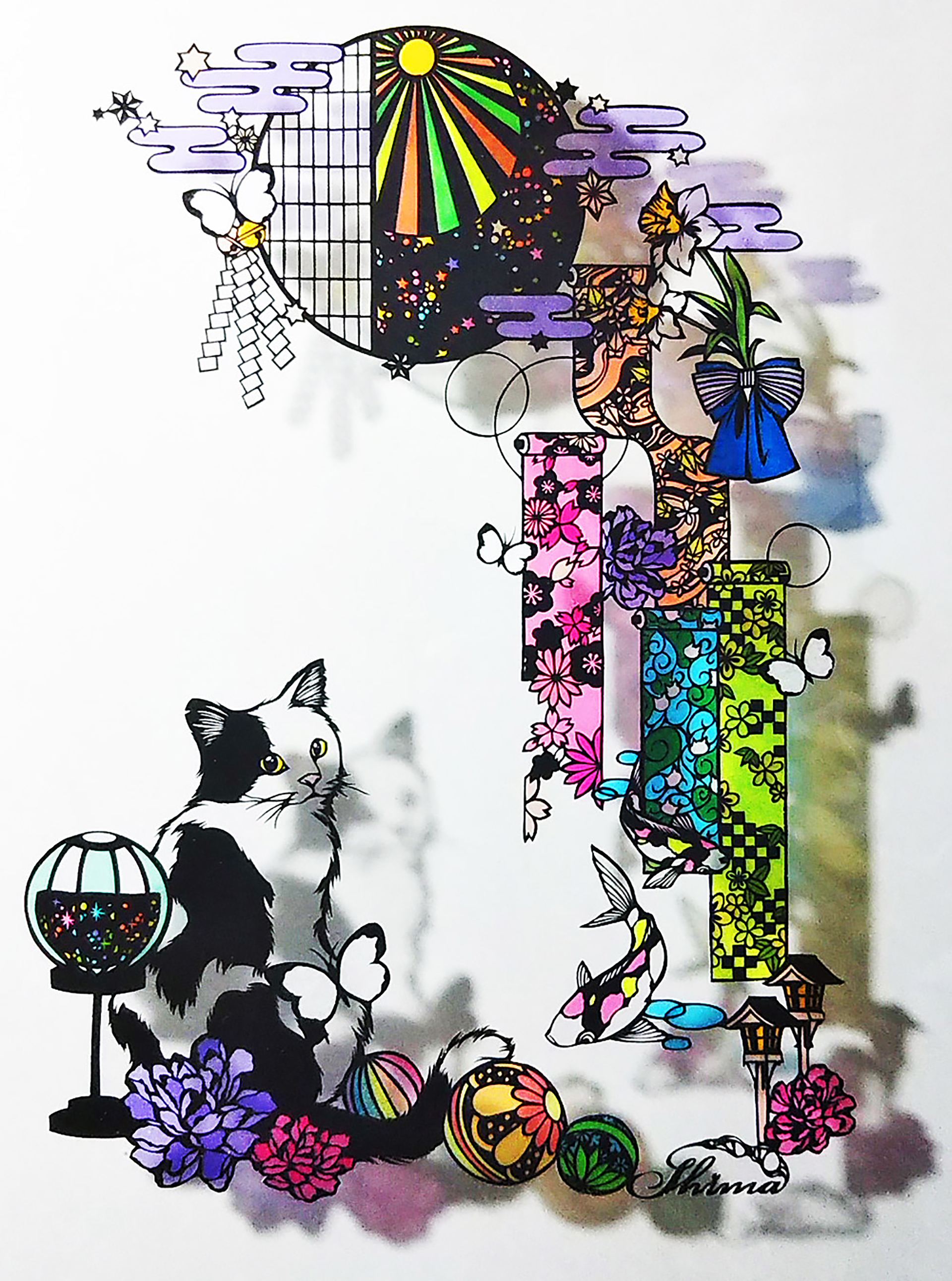 第5回 Shima 切り絵作品展  切り絵作家 Shima 個展 『夢色』